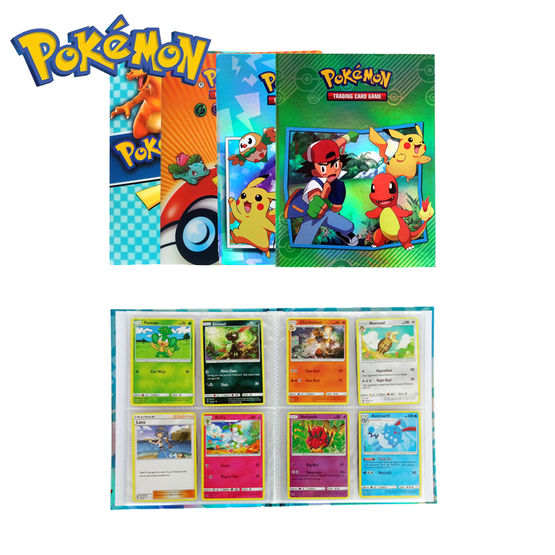 Pokemon Cards Holder Album Toys For Children Collection Album Book Playing Trading Card Game Pokemon For Gift