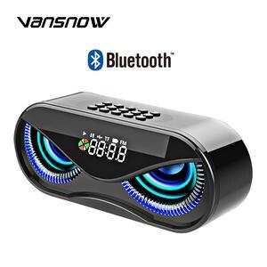 Bluetooth Speaker Alarm-Clock Flash Tf-Card-Support Fm-Radio Select-Songs Owl-Shape Wireless Subwoofer