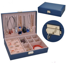 Wholesale new design high quality jewelry storage box Korean style watch earrings ring multi-jewelry