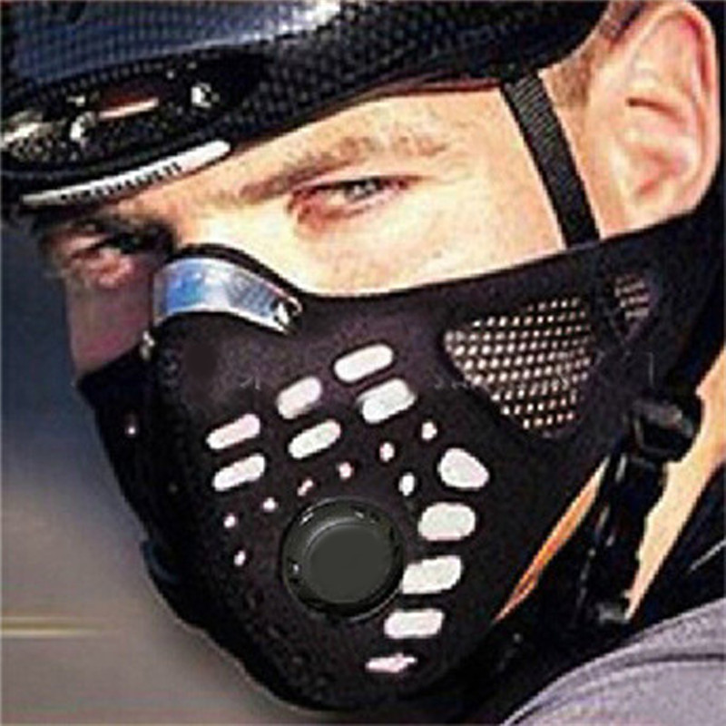 Sport tactical Face With Filter Mask Half Face Mask Winter Warm Outdoor Bike Mask Bicycle Cycling Motorcycle Mask