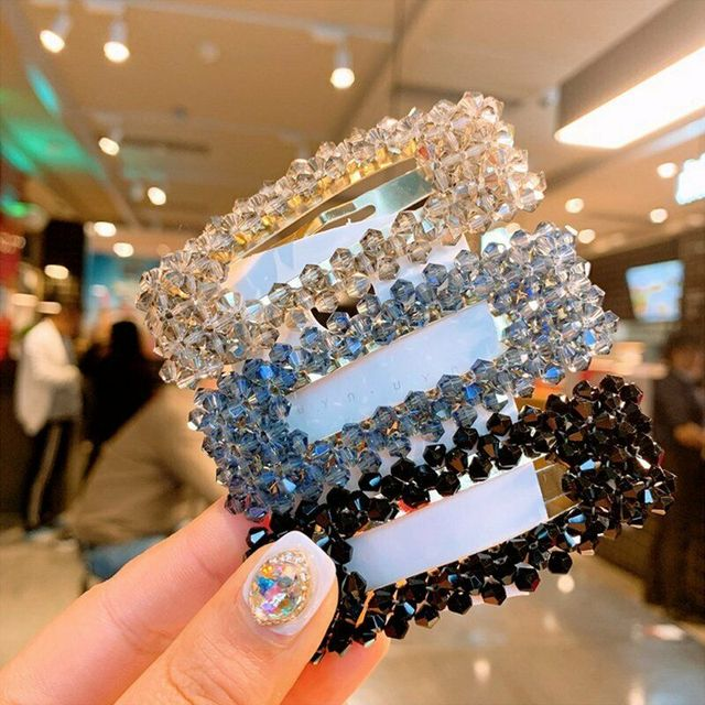 HOT Crystal Bead Hair Clip Hairband Comb Bobby Pin Barrette Hairpin Headdress