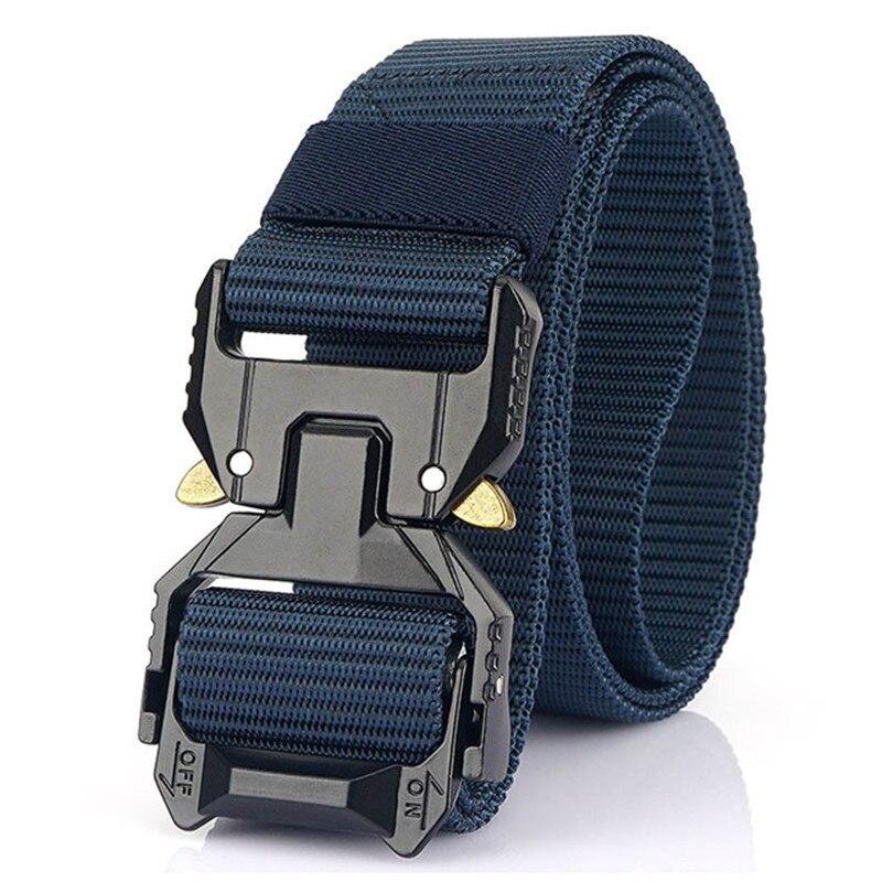 Men' Tactical Belt Hard Alloy Quickly Unlock Pluggable Buckle 1200D Nylon Military Army Belt Tactical Equipment