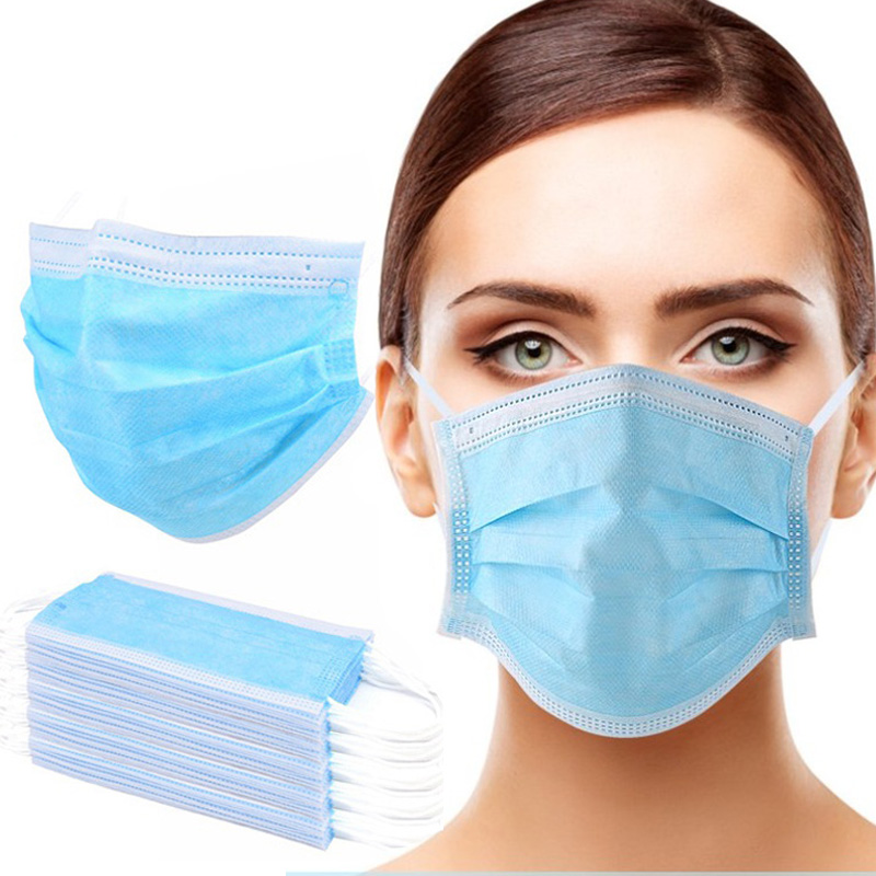 10 Pcs/Bag 3 Layer Mask Non-woven Antivirus Mask Face Mask Disposable Mouth Masks Anti Virus Dropshipping