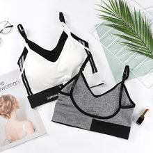 Yoga Sports Bras For Women Sexy Vest Adjustable Shoulder Straps U Type Backless Push Up Tube Top Bra Wrapped Underwear BH(China)