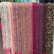 Natural Small Faceted 2mm 3mm Stone Beads Zircon Round Pink Rose Quartzs Crystal Beads For DIY Jewelry Making Supplies 38CM