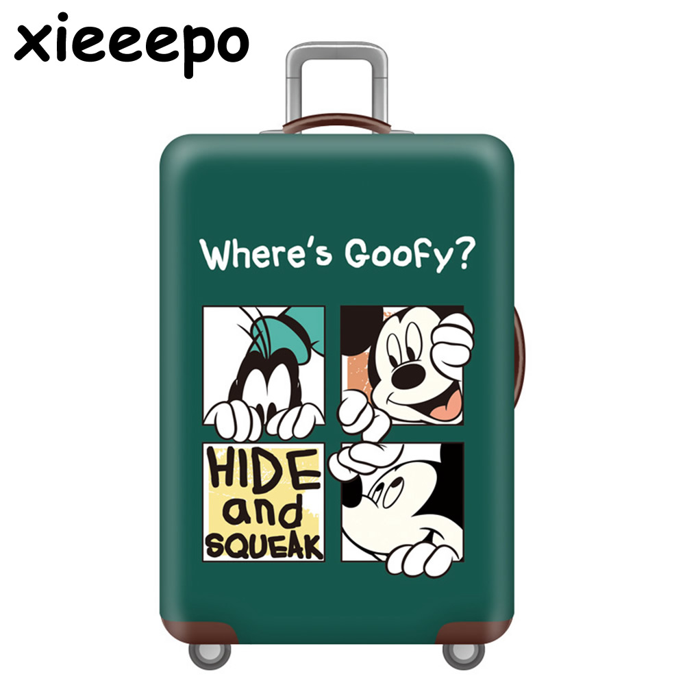 Travel Accessorie Cartoon 3D Mickey Luggage Cover Protective Case Waterproof Thicken Elastic Suitcase Cover For 18-32 Inch XL