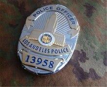 Takerlama americano placa de Metal de Los Ángeles placa de la policía de PO placa 16520/13958 de cobre puro insignia de Pin regalo Cosplay regalo de cumpleaños