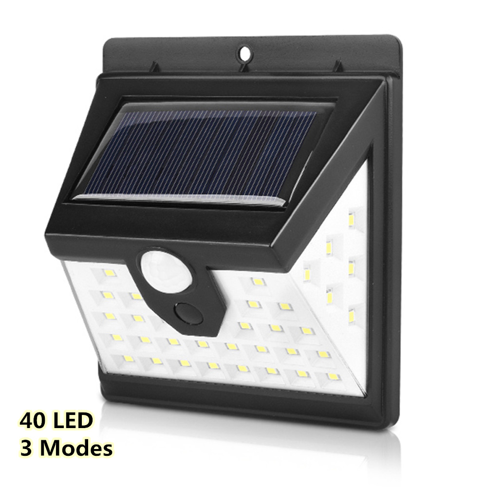 40 LED 3 Modes Solar Powered Lights Outdoor Waterproof Motion Sensor Wall Light