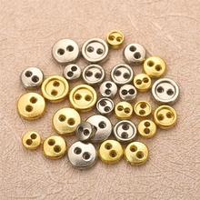 50 шт. мини металлические кнопки 3 мм 4 мм 5 мм 6 мм DIY кукольная одежда Швейные круглые пуговицы DIY аксессуары для кукол