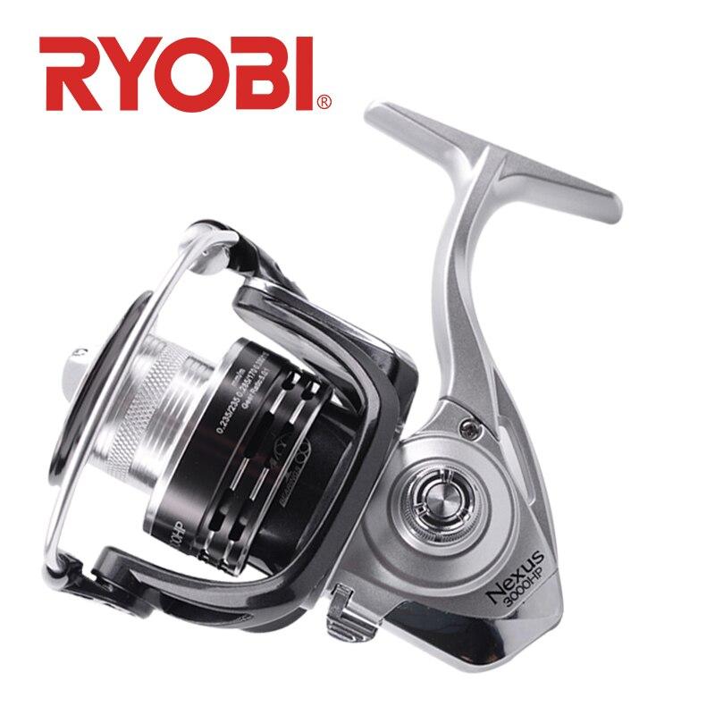 100 original ryobi nexus hp fiacao carretel de pesca 2000 3000 4000 4 1bb relacao engrenagem
