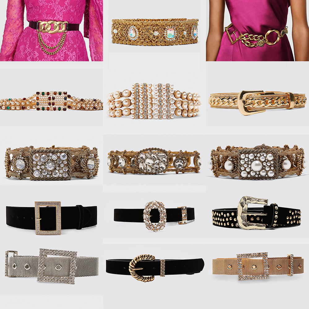 Girlgo 2019 Newest ZA Belly Chain For Women Cute Pearl Waist Chians Fashion Jewelry Metal Buckle Belts Body Charm Wedding Gifts