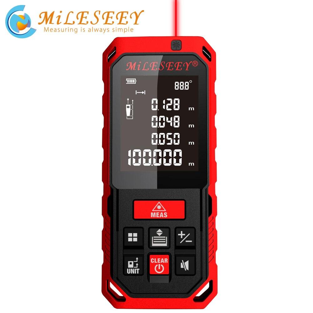 Miseey 50M 70M 100M 120M Rechargeable Laser Rangefinder New Laser Distance Meter Laser Measure Angle  Tools Diastimeter Red