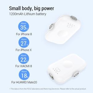 Image 4 - PZOZ Power Bank Mini 1200mAh Poverbank External Battery Portable Charger For iphone X 11 Max Samsung S10 xiaomi redmi Powerbank