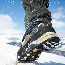 5 zębów Ice Snow Gripper wspinaczka antypoślizgowe kolce Grip Crampon knagi Ice Gripper Stud pokrowiec na buty wiosna Claw Crampon OCT998 tanie tanio CN (pochodzenie) Raki