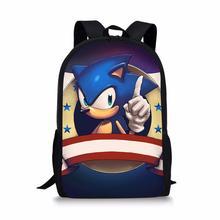 HaoYun School Backpack Hot Game Sonic 4 Hedgehog Pattern Students School Bag Cartoon Anime Design Teenagers Book-Bags Mochila hot game anime pokemon go cosplay backpack for teenagers boys girls students school backpacks casual travel bag mochila kid gift