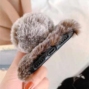 Чехол с кроличьими волосами для Xiaomi Redmi Note 8 7 6 Pro 5 Plus 8A 6A 4 4X S2 Чехлы для Xiaomi Mi 9 8 A1 A2 Lite 6X 5X плюшевый чехол с кроликом