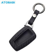 Caso chave do carro de silicone carbono para toyota chr C-HR camry 2018 2019 rav4 inteligente keyless remoto fob capa chaveiro protetor chaves saco