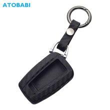 Étui de protection pour clés de voiture en Silicone et en carbone, sans clé, pour Toyota CHR C HR, Camry 2018, 2019, RAV4, porte clés télécommande intelligente, sac