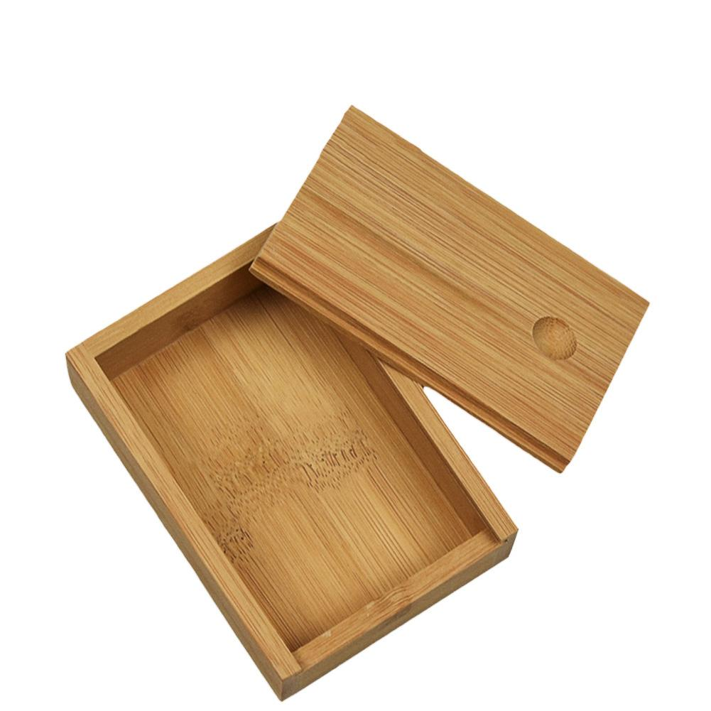 Bamboo Cards Storage Box Desktop Wooden Poker Playing Card Box Case For Playing Games Table Board Deck Game