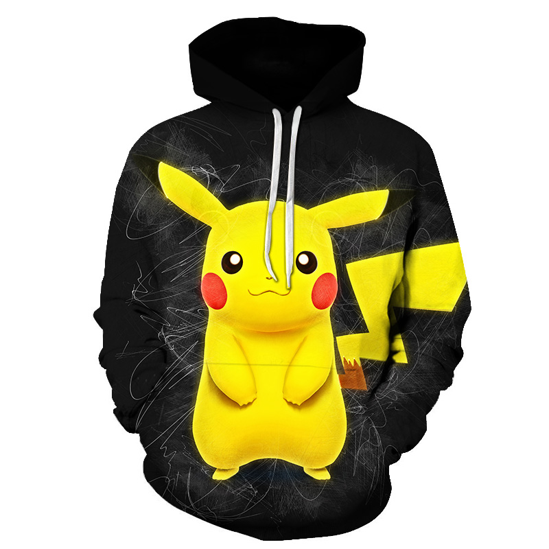 New hot anime Pokemon team role-playing hoodie 3D printing high quality hooded sweatshirt autumn and winter hooded 1