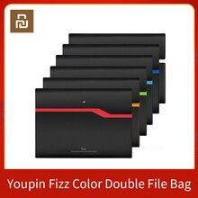 Xiaomi youpin fizz filing produto a4 titular de arquivo organizador 2 camadas grande capacidade saco de documentos maleta de negócios fornecimento de escritório