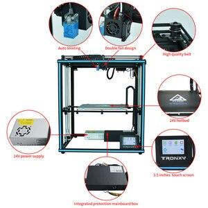 Image 3 - Tronxy ulepszony nowy X5SA 24V 3D drukarki zestawy DIY Auto poziom duży rozmiar wydruku ciepła łóżko 3d maszyna Filament drukowanie Facesheild