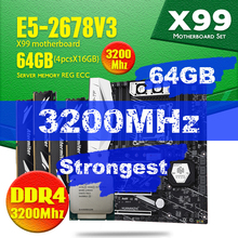 HUANANZHI X99 TF carte mère ensemble avec DDR4 et DDR3 LGA2011 3 et LGA 2011 Xeon E5 2678 V3 64GB = 16GB * 4 3200MHz mémoire RAM