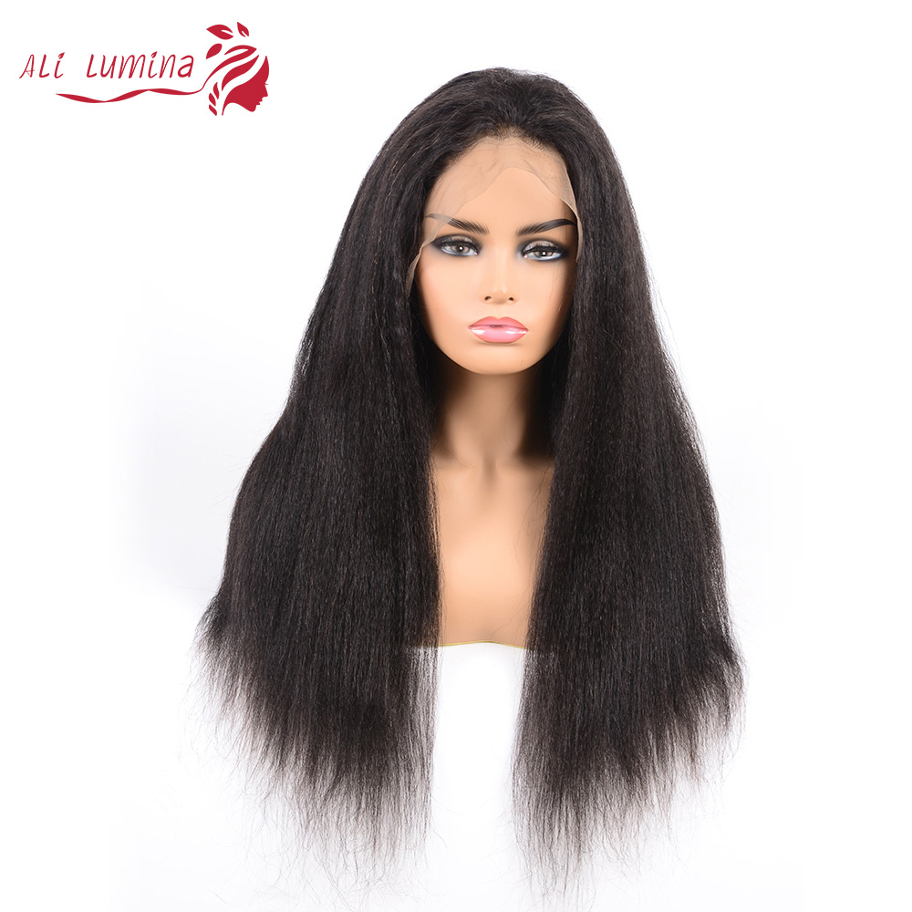 Kinky Straight 13x4 Lace Frontal Wig Ali Lumina 3