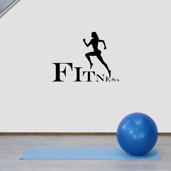 Gym Self-Discipline Decal Women Fitness Wall Sticker Removable Wall Decal Wallpaper Vinyl Art Decals Mural Revacable ov625 image