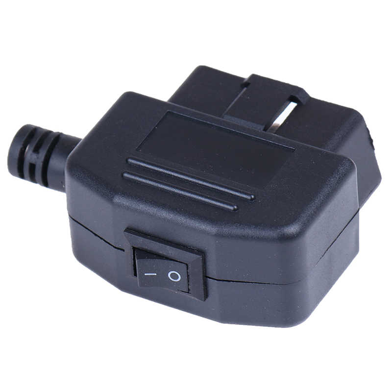 1 juego OBD II tipo 16 Pin macho conector de coche Cable enchufes de Cable conector con carcasa y tornillo