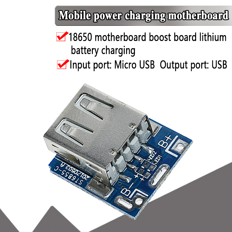 5V Lithium Battery Charger Step Up Protection Board Boost Power Module Micro USB Li-Po Li-ion 18650 Power Bank Charger Board DIY