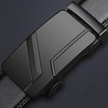Cinturón largo de talla grande 110, 120, 130, 140, 150, 160, 170, 180cm de cinturones de cuero para Vaqueros, correa de hombre negro de hebilla de cinturón