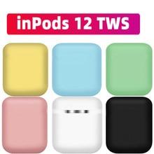 Novo inpods 12 inpods12 up versão i12 matte sem fio bluetooth 5.0 fones de ouvido super bass som i7s i9s i12 tws