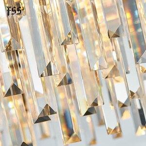 Image 5 - FSS nowa nowoczesna kryształowa chromowana prostokątna żyrandol do jadalni sypialnia okrągłe żyrandole oświetlenie do salonu oprawy