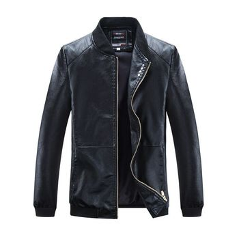 2019 Spring New Casual Stand Collar Biker Jacket