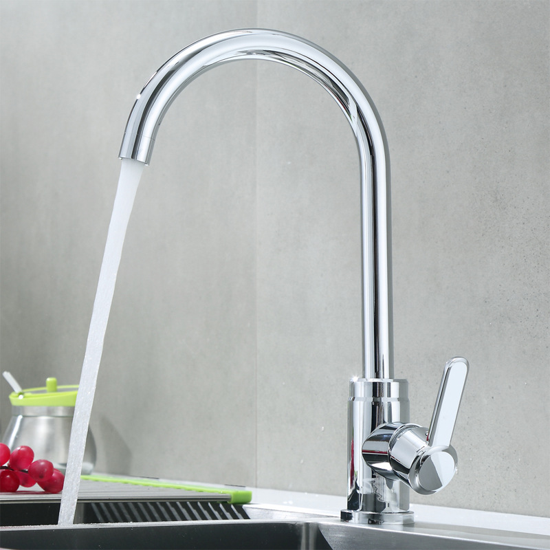 Kitchen Faucet Hot And Cold Washing Basin Household Faucet Sink Wash Basin 304 Stainless Steel Rotating High Standard Electropla