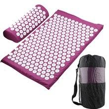 Массажная подушка, массажный коврик для йоги, акупрессура, облегчающий стресс, боль в спине, шип, коврик для акупунктурного массажа, коврик для йоги