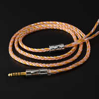 NICEHCK C16-2 16 Core Copper Silver Mixed Cable 3.5/2.5/4.4mm Plug MMCX/2Pin/QDC/NX7 Connector For KZCCA TFZ QDC NX7/DB3 BL-03