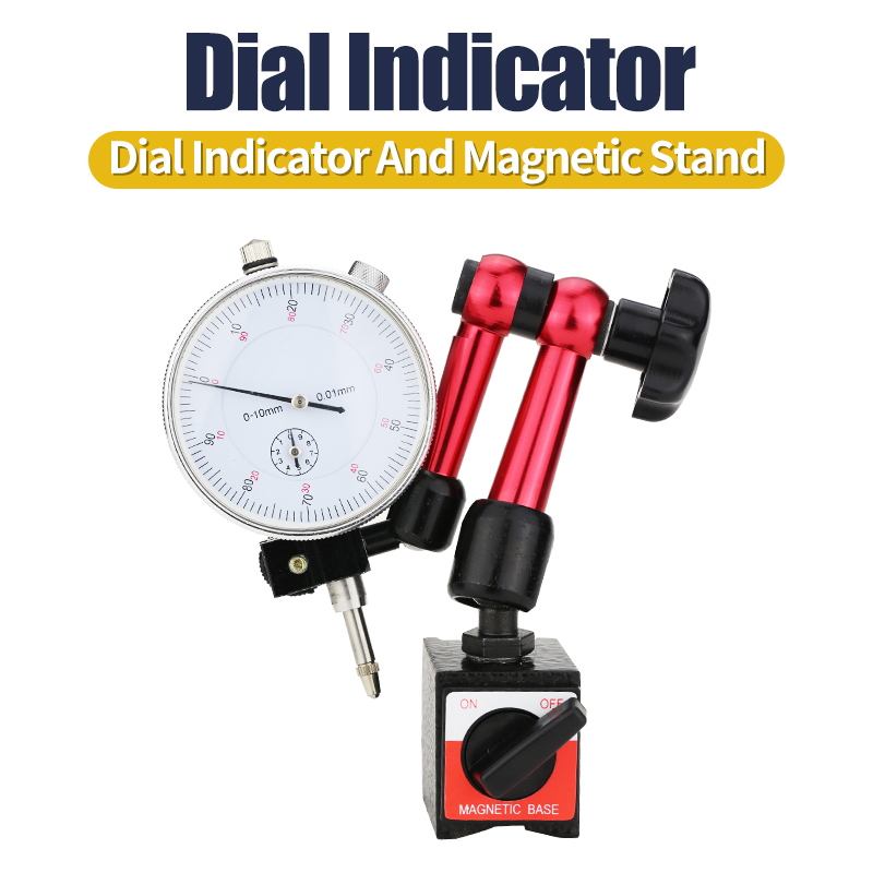0.01mm Resolution Dial indicator Magnetic table Holder stand Dial Gauge Universal Magnetic Stand Base Indicator Measurement Tool