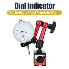 0.01mm resolução dial indicador magnético suporte de mesa dial gauge universal magnético suporte base indicador medição ferramenta