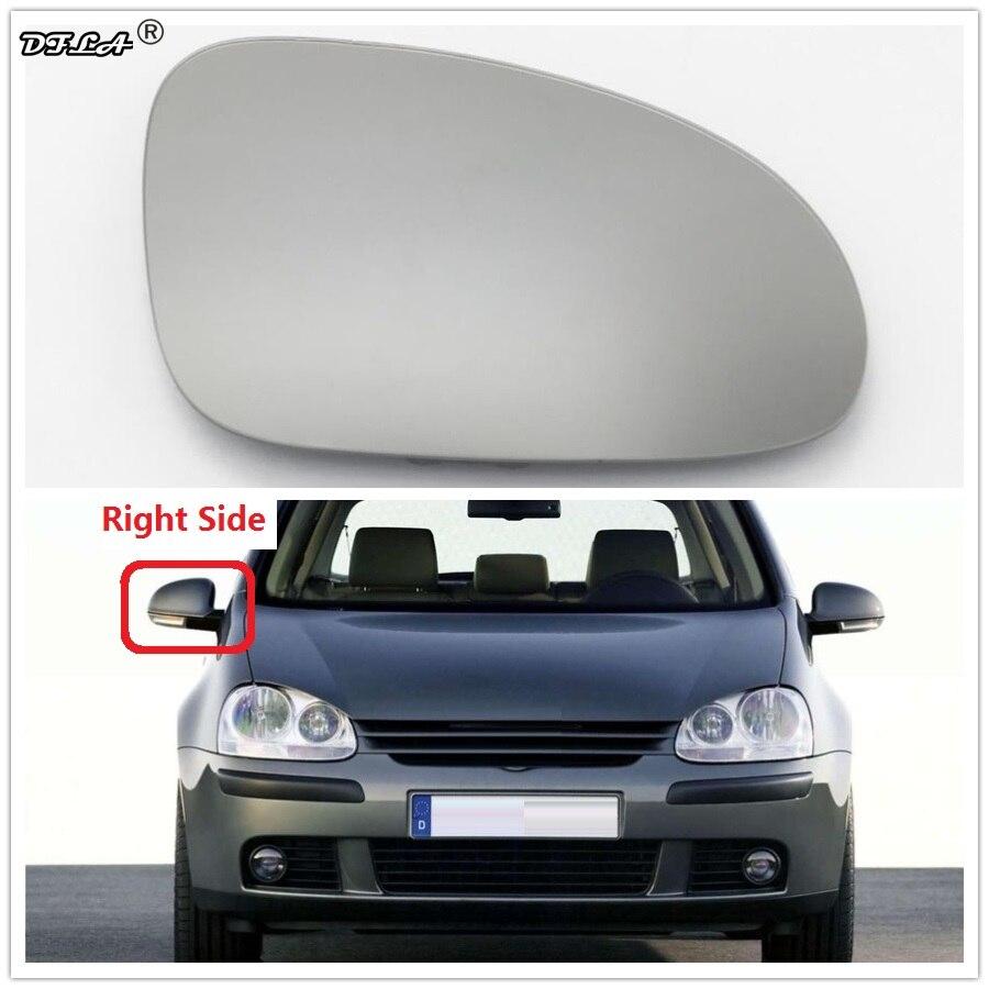 Для VW Golf V MK5 2006 2007 2008 2009, автостайлинг, боковое зеркало для двери автомобиля, стекло с подогревом, с правой стороны