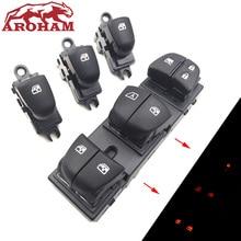 Автоматический переключатель стеклоподъемников/единый переключатель подъемников окон со светодиодный для Nissan Qashqai/Altima/Sylphy/Tiida/X-Trail желтый светильник