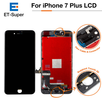 50Pcs/Lot Grade AAA+++ Pantalla LCD For iPhone 7 Plus Display AAA Digitizer Assembly with 3D Touch Screen Replacement Part+DHL