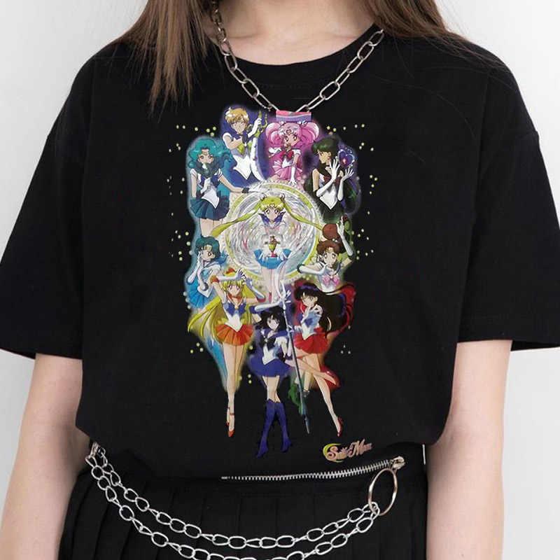 새로운 하라주쿠 고딕 여성 Tshirt 불꽃 심장 인쇄 짧은 소매 탑 & 티 패션 캐주얼 T 셔츠 여성 의류 티셔츠