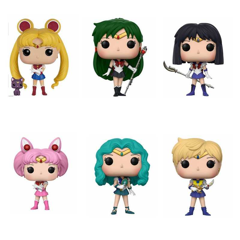 Sailor Moon Luna Theme Figure Statue Hare Character Action Figure Doll Sailor Chibi Moon Sailor Neptune Gift For Girls Action Figures Aliexpress