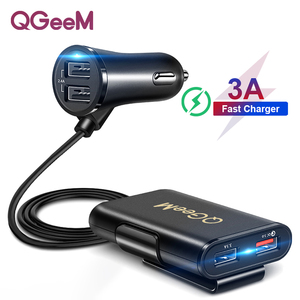 4 usb qc3.0 car charger(China)