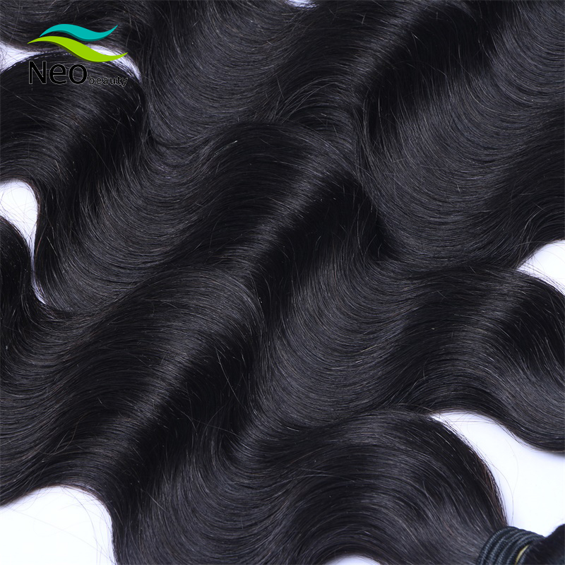 Neobeauty HAIR Brazilian Body Wave Hair Weave Bundles Natural Color 100% Human Hair weave 1/3/4 Piece 8-40 Remy Hair Extensions