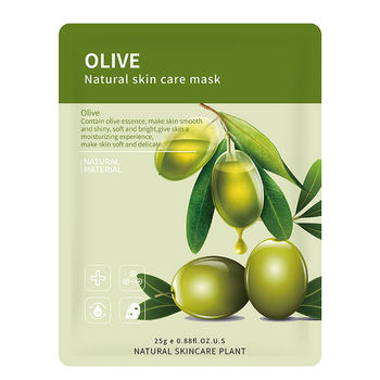 14 Style Plant Fruit Face Mask Pomegranate Aloe Vera Blueberry Cucumber Olive Honey Orange Rose Bamboo Tea Facial Skin Care - olive