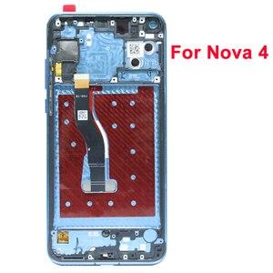 """Image 5 - מקורי 6.4 """"תצוגת עבור Huawei Honor V20 LCD הכבוד להציג 20 תצוגת מגע מסך Digitizer עצרת עבור Huawei נובה 4 מסך"""