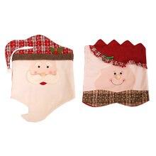 2 шт рождественские чехлы для стульев декор кухонные шапки Чехлы